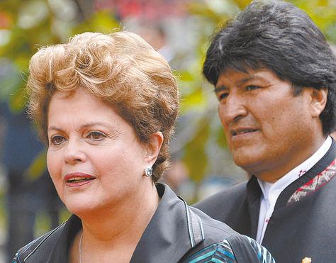 Bilateral. Los presidentes de Bolivia y Brasil se reúnen hoy.