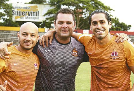 'Rauly' Aguirre, 'Juancho'  Daza y Esteban Molina