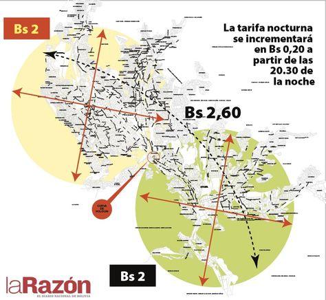 Ésta es la explicación de cómo serán aplicadas las nuevas tarifas para la modalidad minibús en la ciudad de La Paz desde el 22 de febrero.
