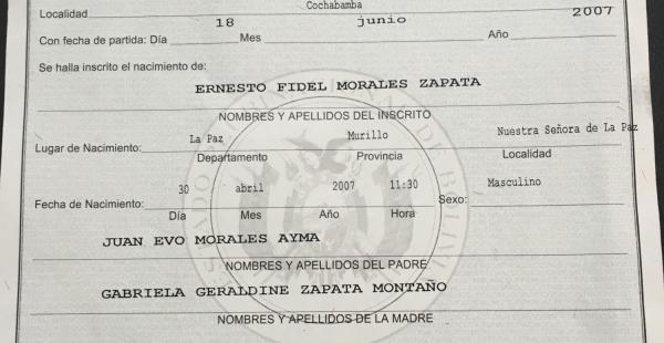 Este es el documento que el periodista Carlos Valverde mostró en su programa de televisión
