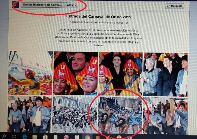 Ministerio de Comunicación publicó foto de Gabriela Zapata en su página de Facebook en 2015