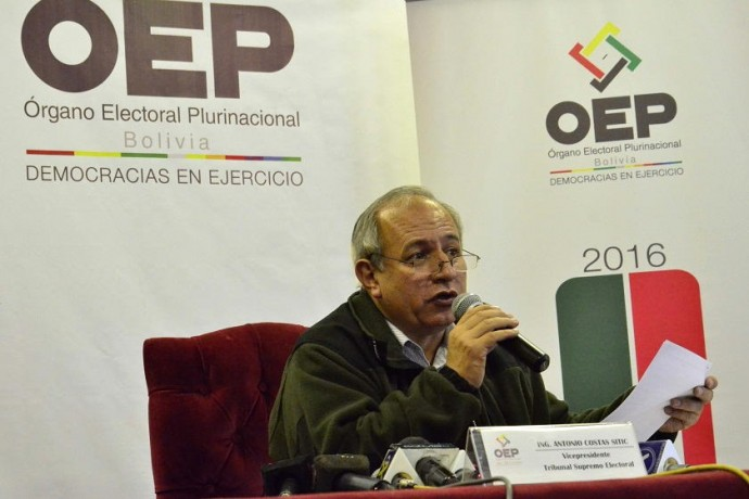 El vicepresidente del TSE, Antonio Costas. Foto: Archivo