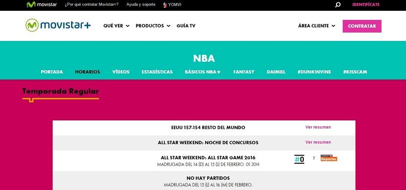 Movistar Cómo ver el partido de las estrellas del NBA All Star 2016