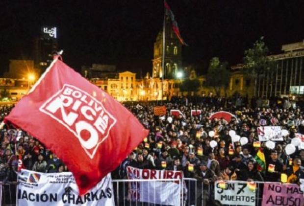 El No retumba en San Francisco tras una marcha desde El Alto