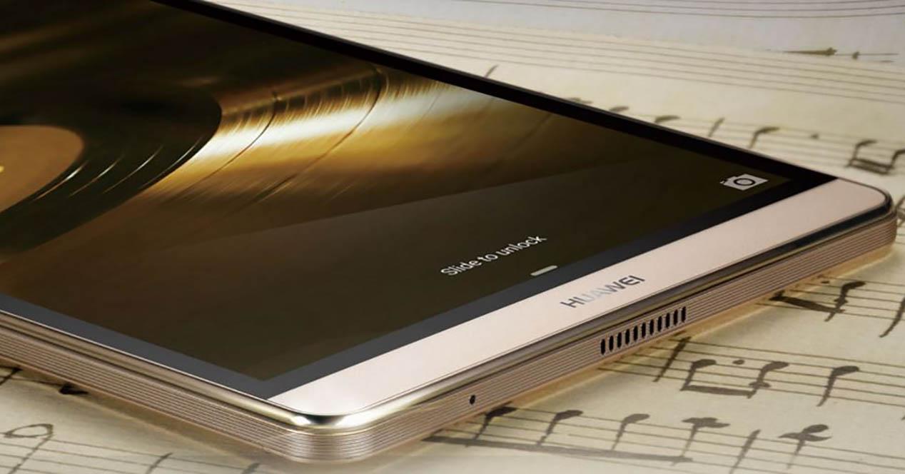 Huawei MediaPad M2 color dorado
