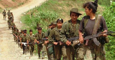 Mujeres guerrilleras de las FARC