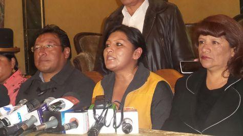Soledad Chapetón durante la conferencia de prensa, esta tarde en el Hotel Torino. Foto: Dennis Luizaga