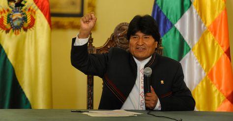 El presidente Evo Morales antes del referéndum de reforma constitucional del domingo 21.
