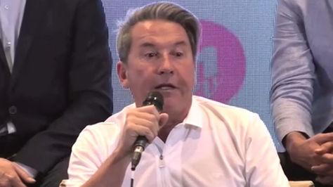 Ricardo Montaner en conferencia de prensa en Chile