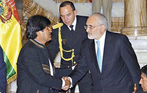 Morales y Mesa en Palacio de Gobierno