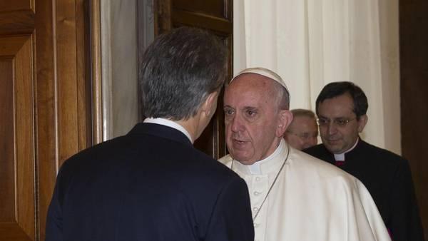 Francisco y Macri, a solas. (AP)