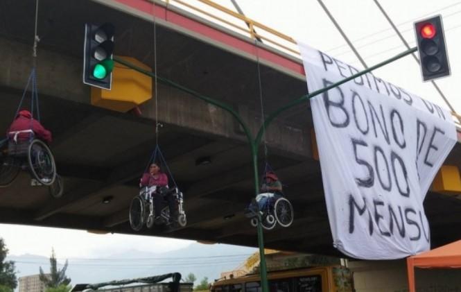 Personas con discapacidad anuncian inicio de marcha, este lunes, desde Cochabamba a La Paz