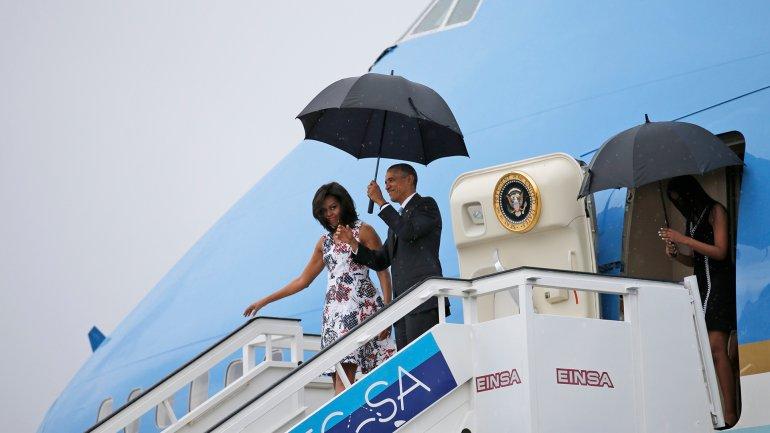 Barack Obama llegó a Cuba para iniciar una histórica gira