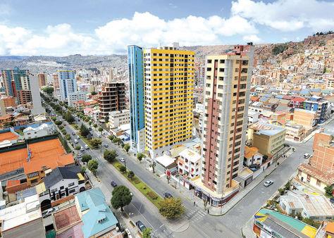 Inmuebles. Una vista de la ciudad de La Paz donde ahora las transferencias de bienes subirán en un 203%.