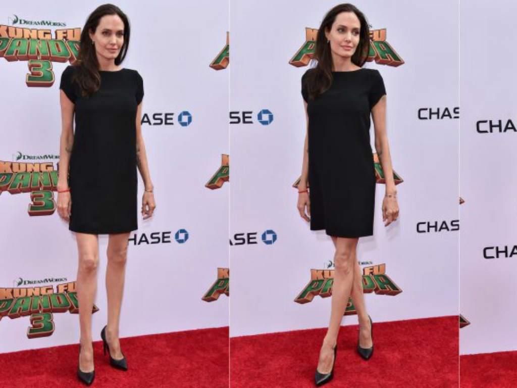 Esta fue una de las últimas fotografías de Jolie en público.