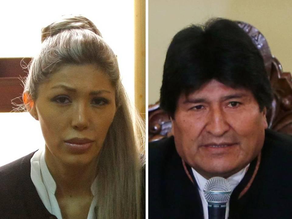Gabriela Zapata y Evo Morales.