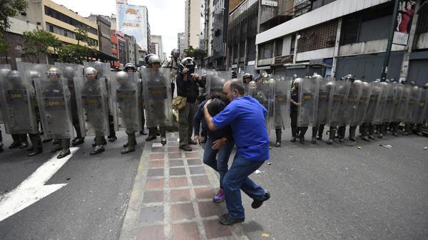La Guardia Nacional Bolivariana monta guardia en Caracas (AFP)