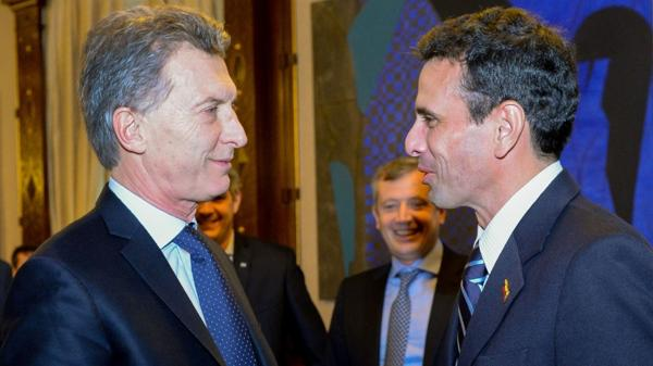 Mauricio Macri y Henrique Capriles