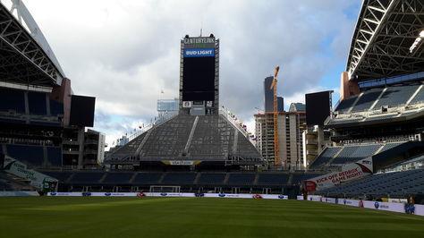 Por dentro, el imponente estadio Century Link Field de Seattle.