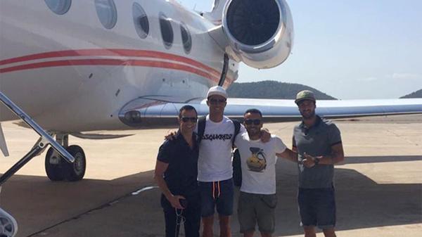 Cristiano Ronaldo llegó a Madeira para inaugurar su hotel