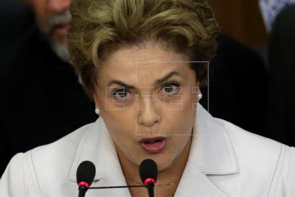 En la imagen, la presidenta suspendida de Brasil, Dilma Rousseff. EFE/Archivo