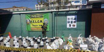 FELCN de Cochabamba secuestra casi 2 toneladas de precursores para elaborar cocaína