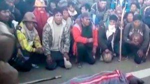 Una bala en el pecho del cooperativista  Aparaya generó ira contra Viceministro