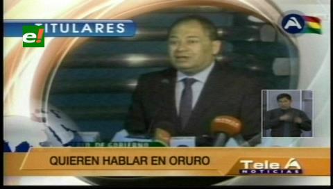 Titulares de TV: Ministro Romero anuncia querella contra cooperativistas mineros por secuestrar a policías