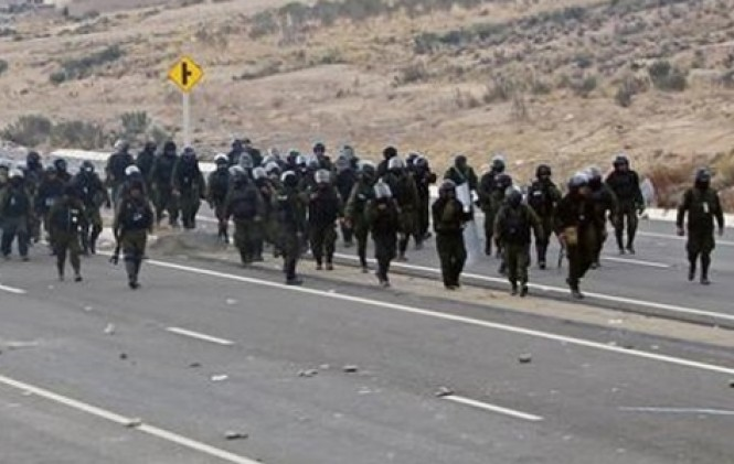 El Gobierno analizó una intervención militar durante el conflicto minero