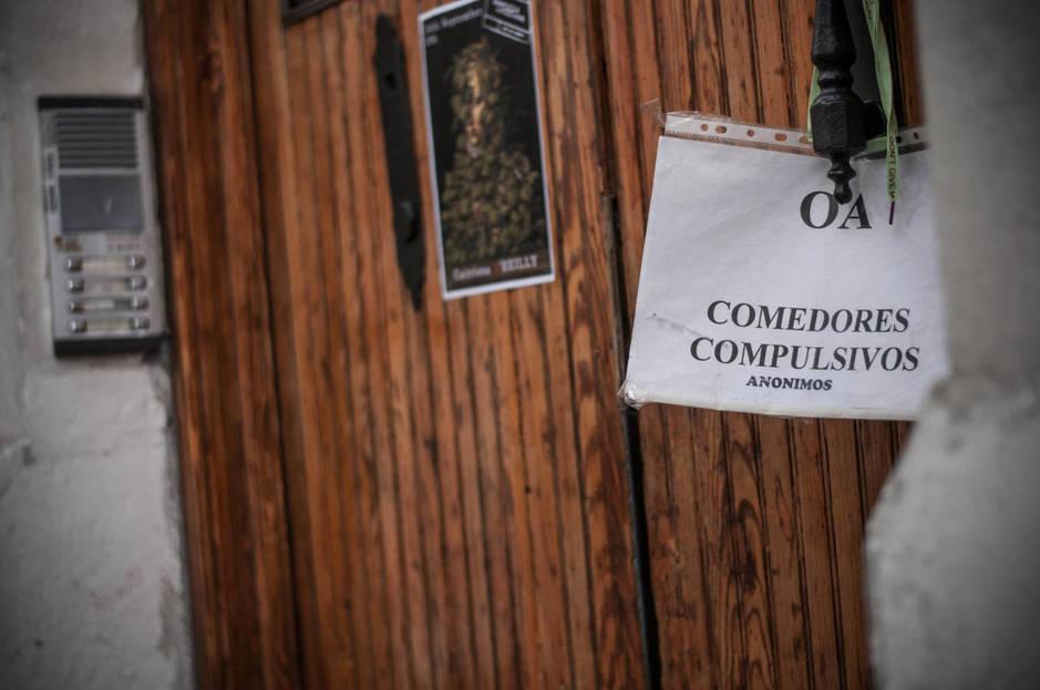 Entrada a la reunión de Comedores Compulsivos. (Foto: Carmen Castellón)