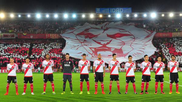 Los colores son los mismos. Esta noche, River recibe a Independiente Santa Fe (MARCELO CARROLL)