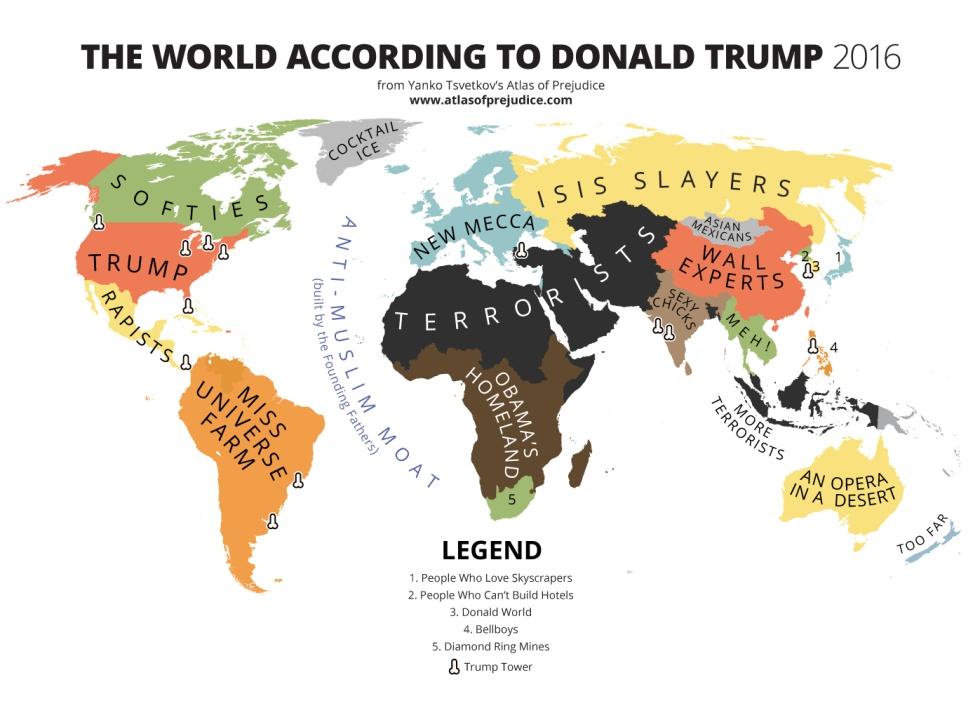 El mundo según Donald Trump 2016