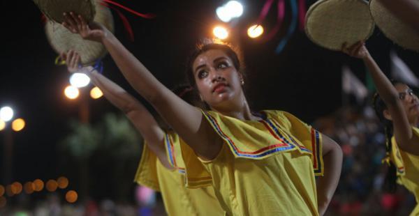 Los bailarines derrocharon alegría y mostraron sus destrezas en la pista del Cambódromo