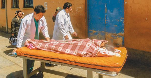 Los heridos fueron trasladados con diferentes daños a la ciudad La Paz