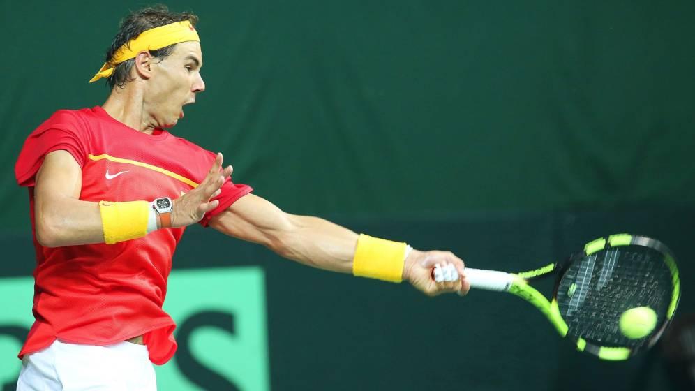 Foto: Rafa Nadal, en la reciente eliminatoria de la Copa Davis contra India. (EFE)