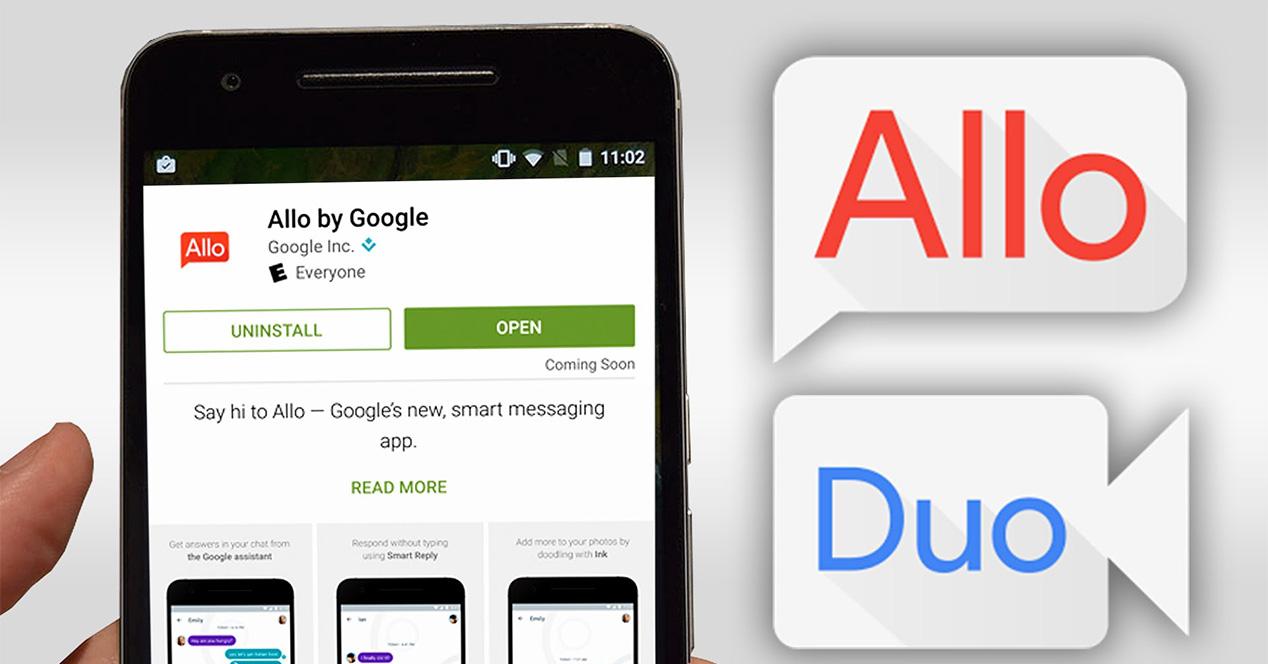 Aplicaciones de Google Allo y Duo