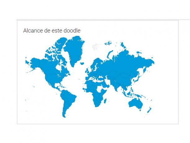 Este es el alcance del doodle por el aniversario 18 de Google. (Foto: Captura)