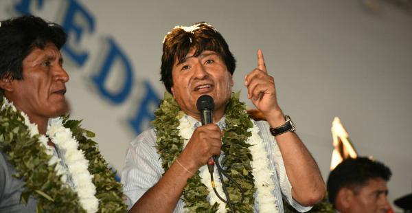 El presidente Evo Morales este miércoles en el congreso de los cocaleros en Cochabamba