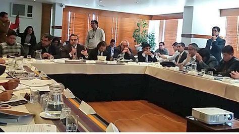 Reunion sobre el pacto fiscal