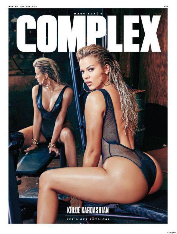 <p>Es verdad que no era la primera vez que Khloé presumía de trasero en una revista, pero nunca la habíamos visto posar sin nada de ropa. (Foto: Complex). </p>