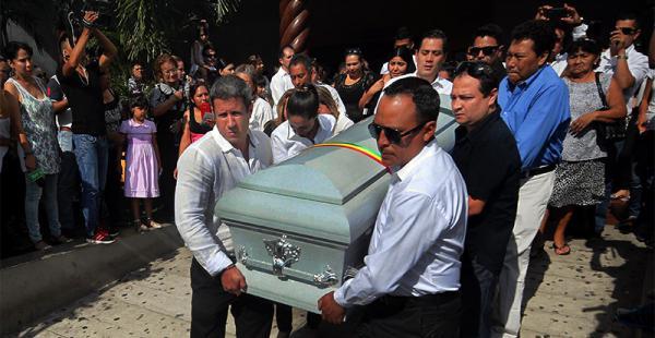 La familia Arias. Despidió a Sisy. Los amigos y familiares acompañaron este doloroso momento.