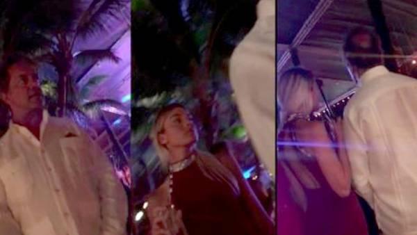 Imágenes de video de Daniel Scioli en Punta Cana con la bailarina Gisela Berger.