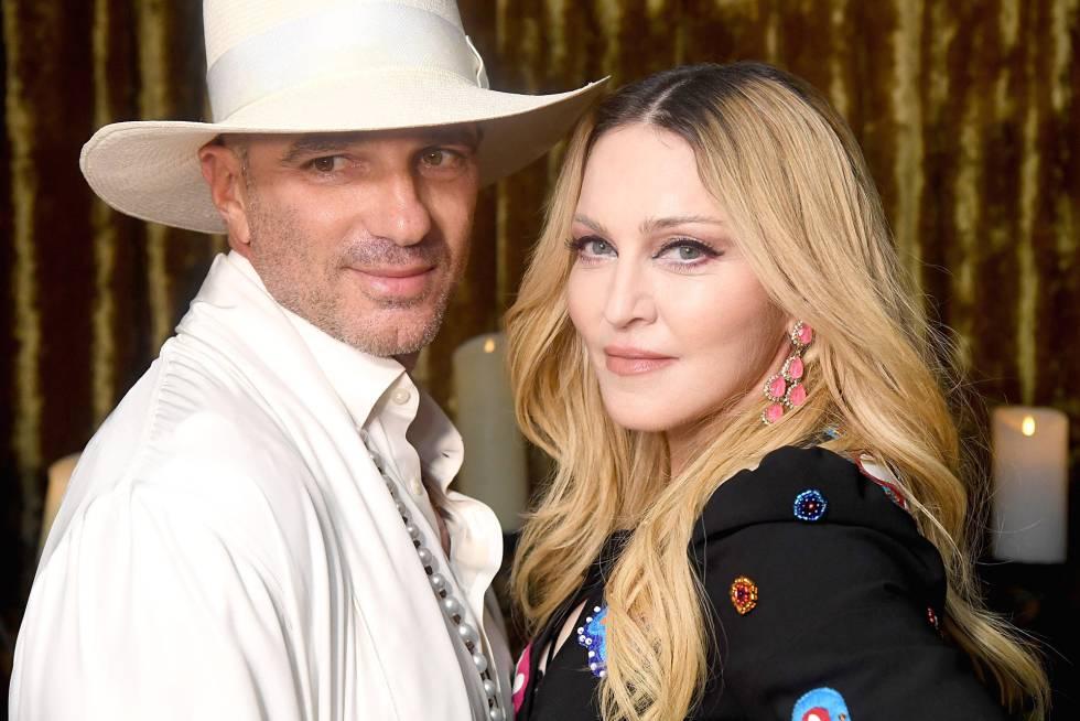 Alan Faena y Madonna en el evento solidario para Malaui en Miami la semana pasada.