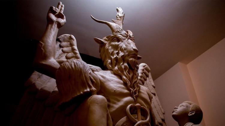La escultura de Baphomet, un objeto de adoración para los satanistas