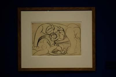 Animal salvaje atacando a una mujer desnuda. Picasso en 1933, un preanuncio de mutilaciones y pesadillas. /Fernando de la Orden