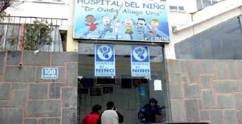 Acceso principal al Hospital del Niño, lugar a donde la niña fue internada de emergencia.