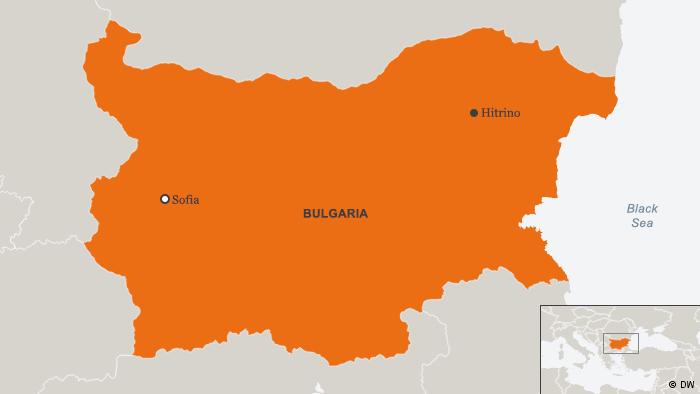 Karte Bulgarien Hitrino Englisch (DW)