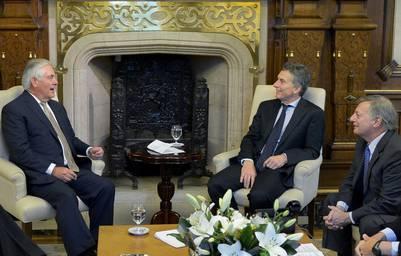 Tillerson se reunió con Mauricio Macri en la Casa Rosada en junio pasado. (DYN)