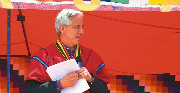 El vicepresidente Álvaro García Linera anunció el fin de semana que no repostulará para el cargo