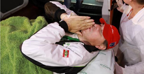 El periodista Rafael Henzel se recupera de un trauma torácico y una fractura en una pierna